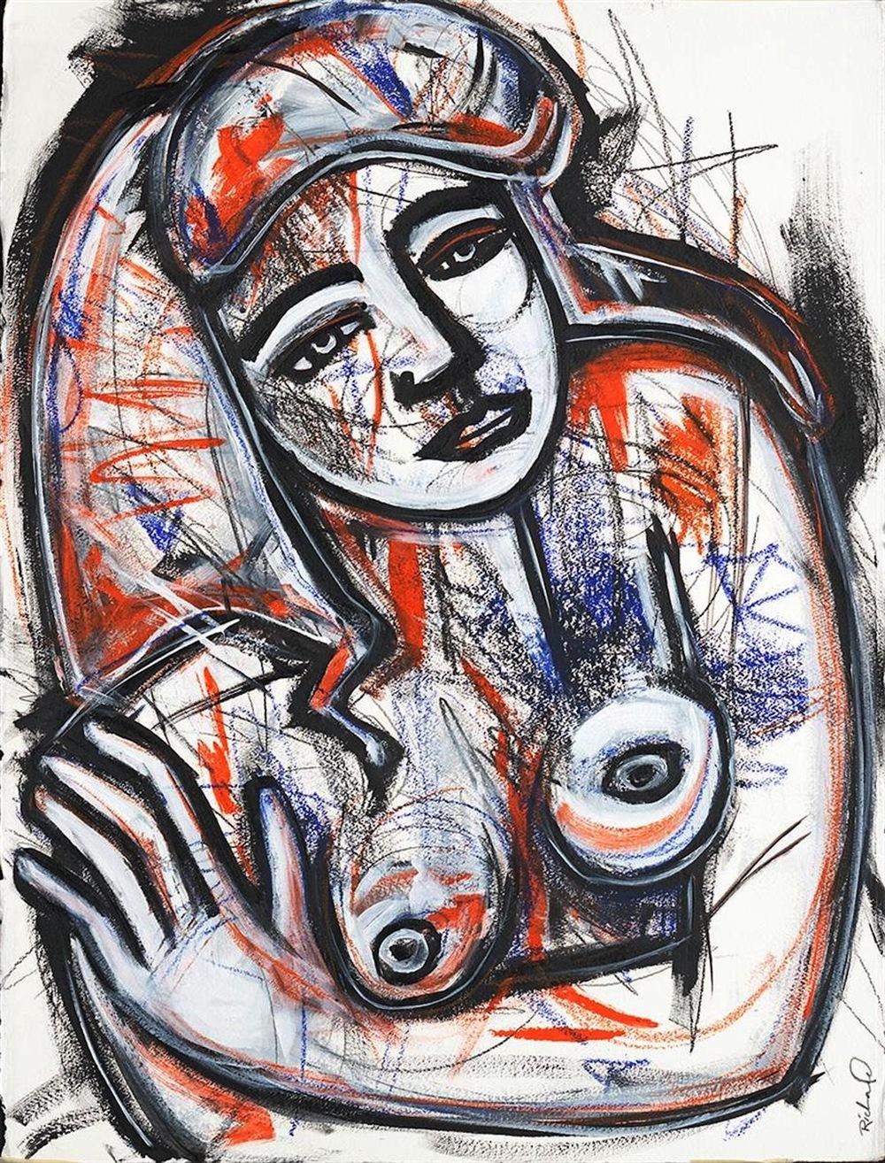 Ilene Richard,   The Bath,   drawing, 28x35, $3,000