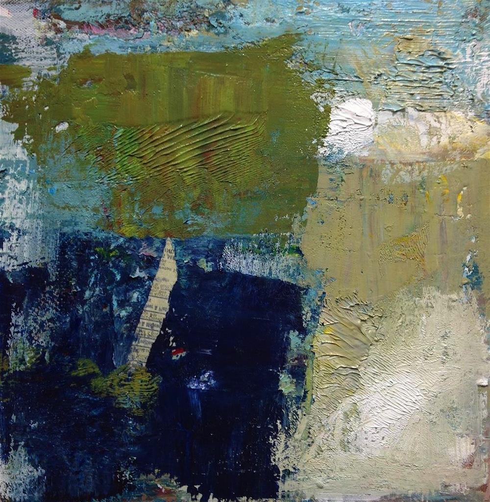 Ellen Rolli,   Shifting  , acrylics, 12x12, $900