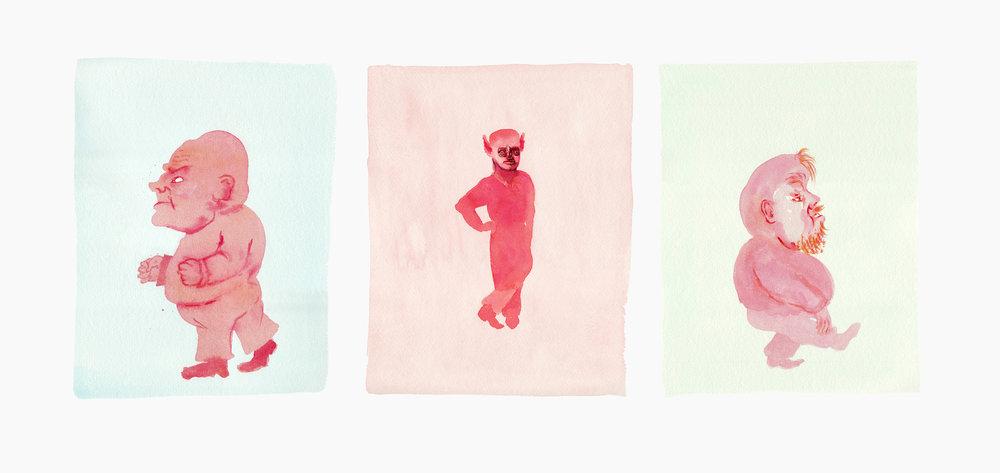 Feud , archival pigment print on watercolor paper, 37x17, unique, $975