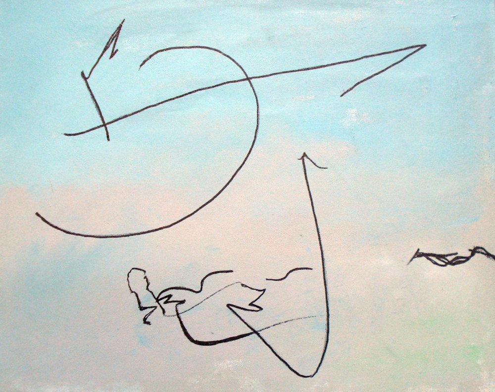 Pat Paxson, Adventure , mixed media on canvas, 16x20