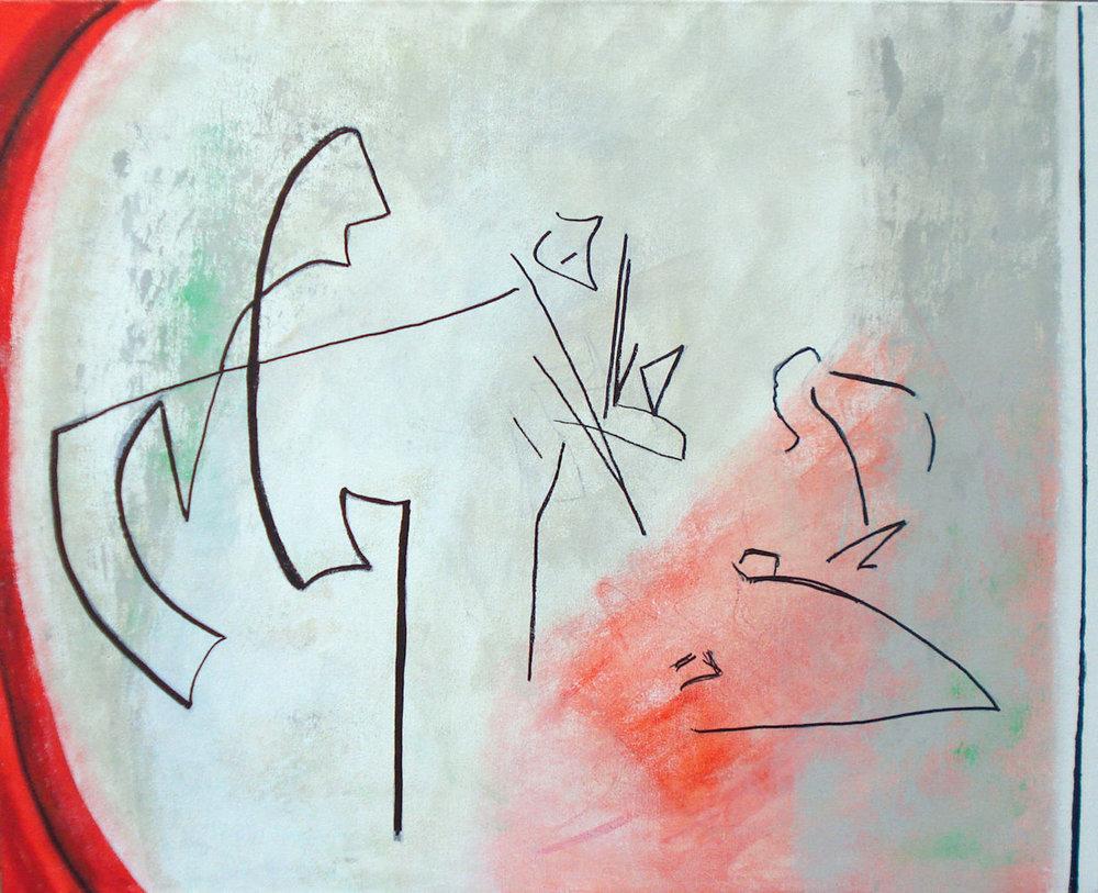 Dynamics , mixed media on canvas, 24x30, $1,400