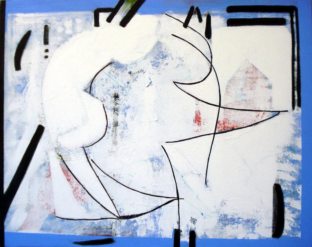 Pat Paxson, Gift , mixed media on canvas, 24x30, $1,200