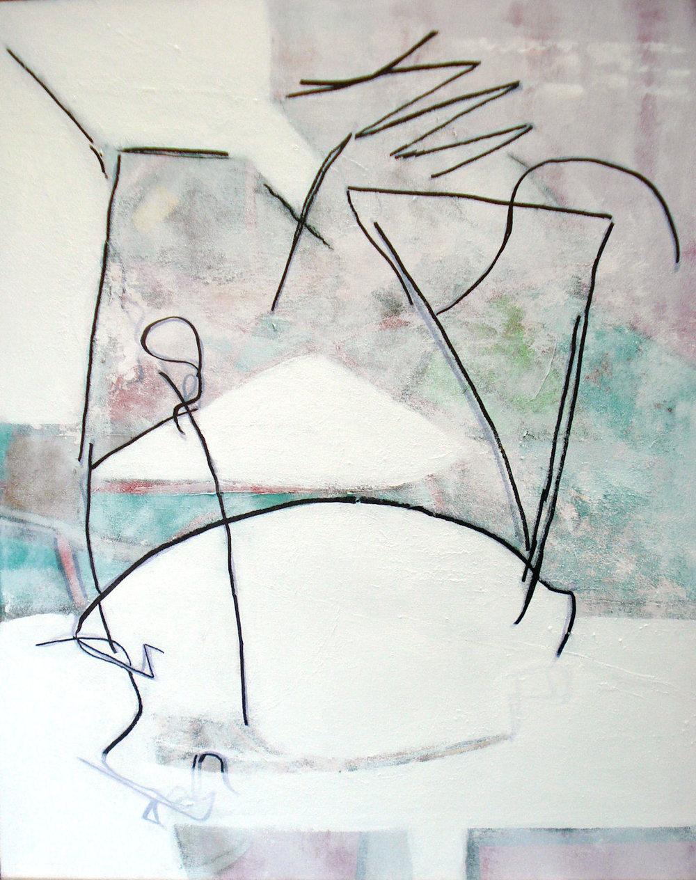Fragility , mixed media on canvas, 30x24, $950
