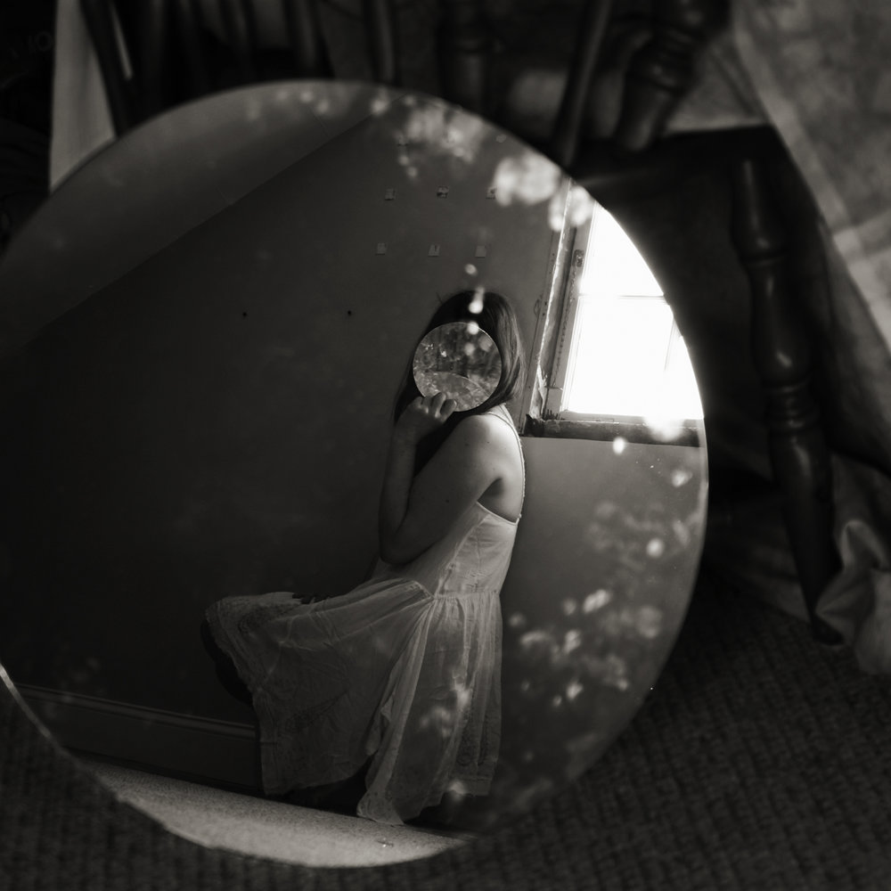 Claudia Ruiz-Gustafson,  Seeing Through the Mirror of Self , Photography, 16x16, $250