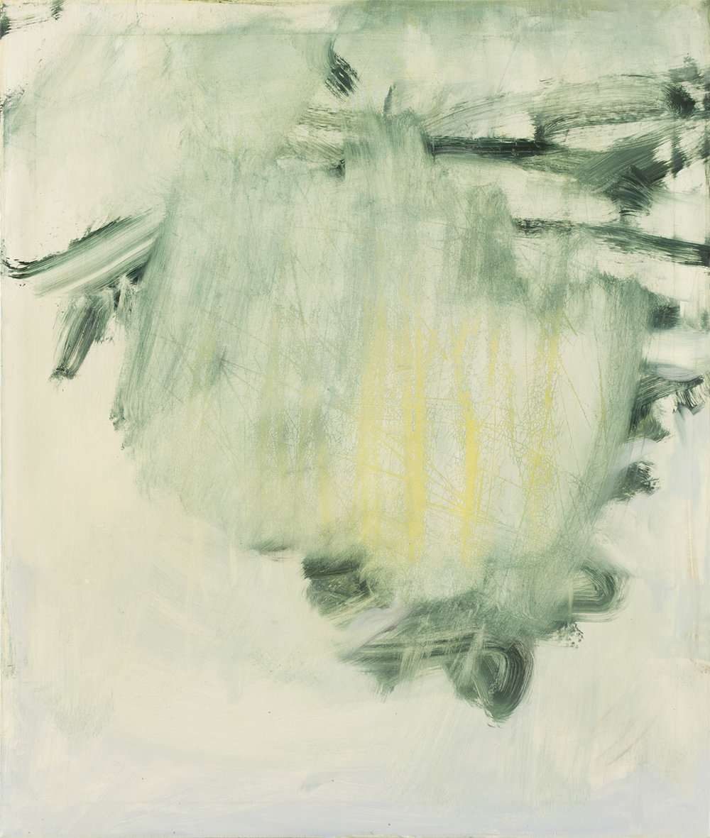 Joseph Fontina,  Tree Erasure #2 , Oil on canvas, 52x44