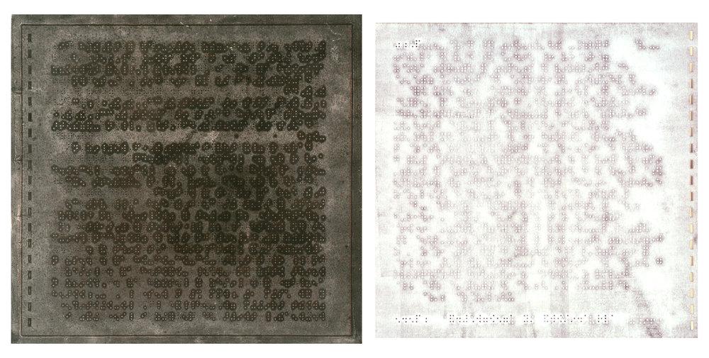 Mary Kostman,  Cross Eyed , Monotype, 12x30, $2,000