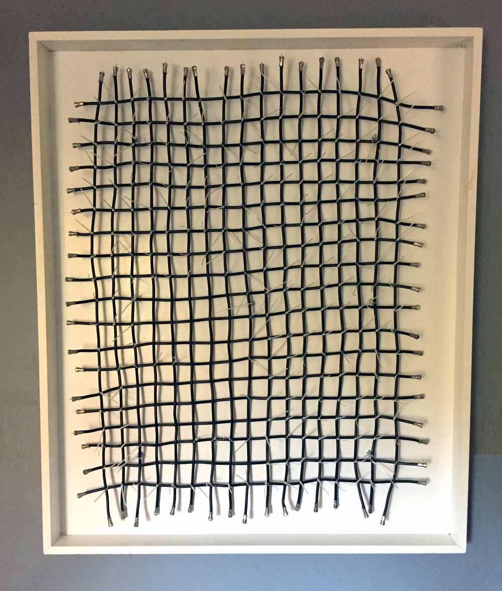 Douglass Cross,  Baby Blanket , Coaxial cable, 47x40x4, $1,000