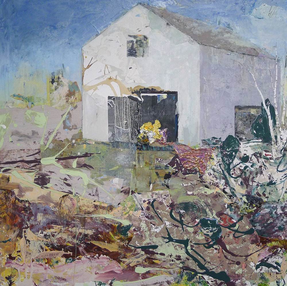 Brenda Cirioni,  Barn Series: Dream , Mixed media painting, 40x36