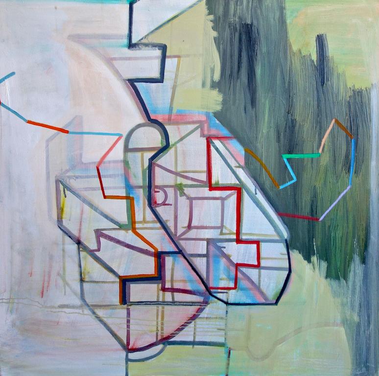 Brenda van der Beek,  Untraced , Oil on canvas, 36x36, $2,800