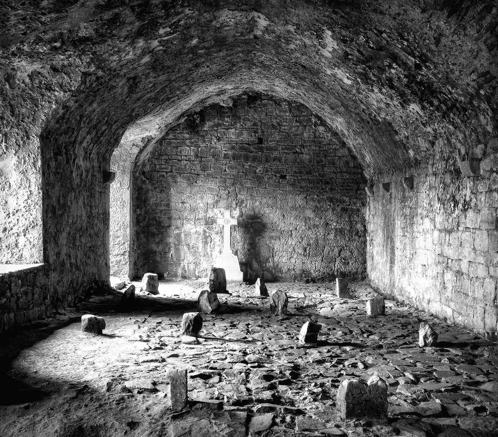 Richard Lapping,  Cloisters, Quin Abbey, Ireland , Photograph, 20x24, $550