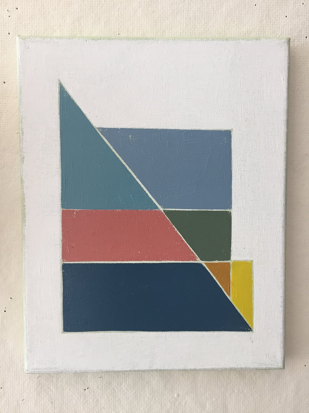 "Gloucester Color Study , oil and colored pencil on canvas, 8"" x 10"""