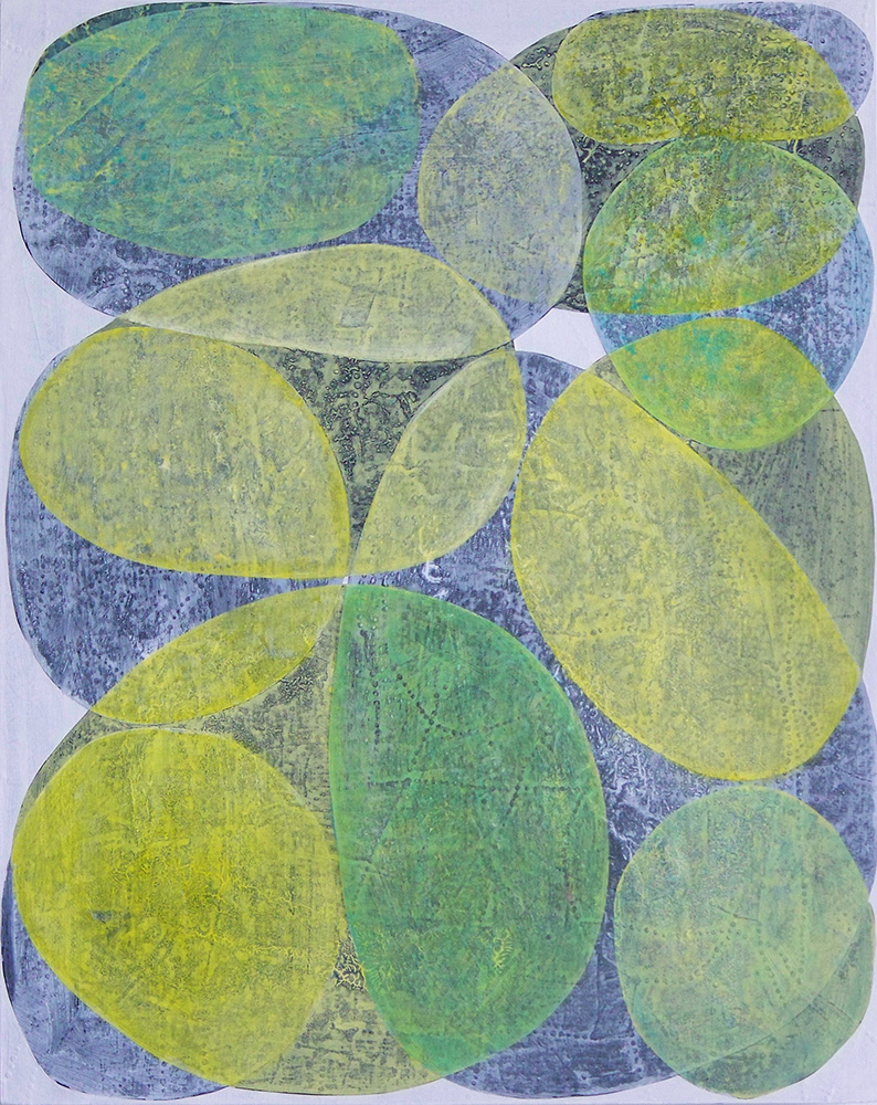 Denise Driscoll,  Inner Garden 25 , acrylic on panel, 20x16