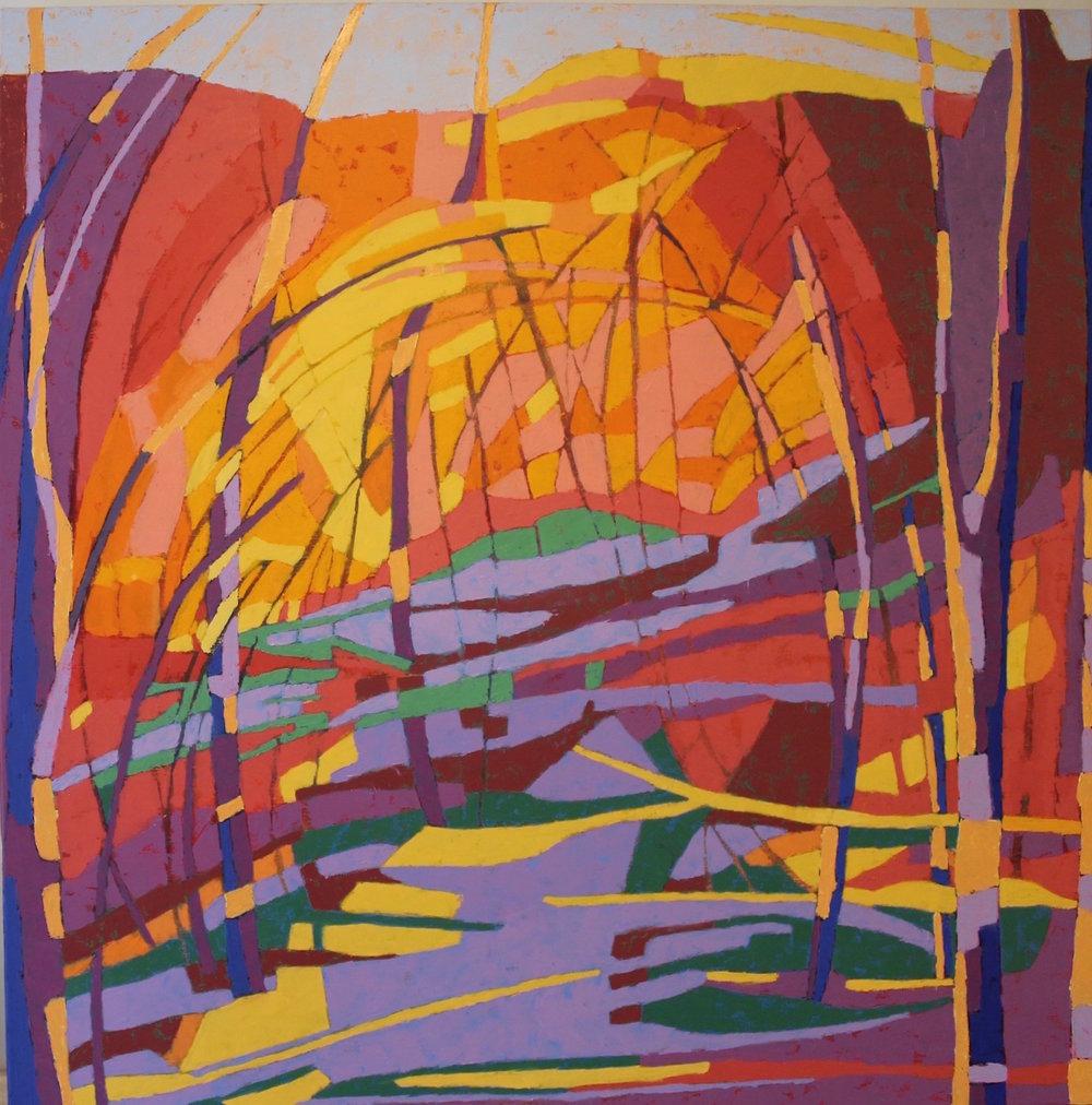 Marcia Wise,  Inner Sanctum , oil, 36x36