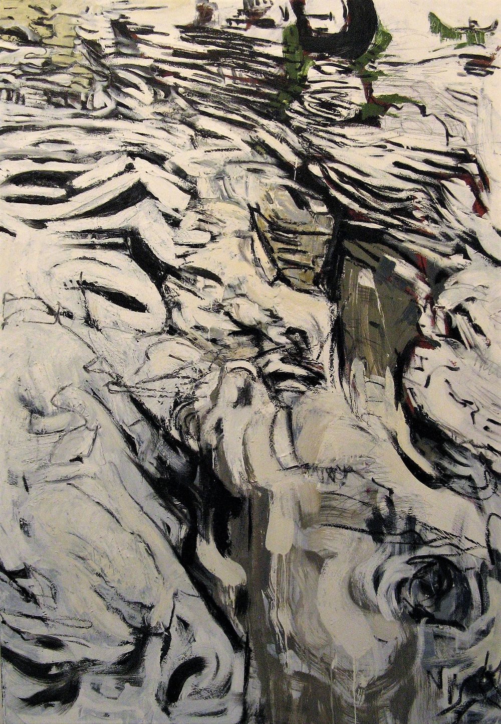 Iris Osterman,  Ravine , Oil, graphite and charcoal on canvas, 42x60