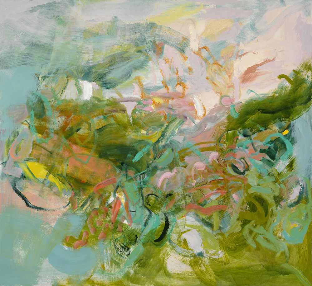 Kathy Soles,  Shifting Thresholds , Oil on canvas, 44x48