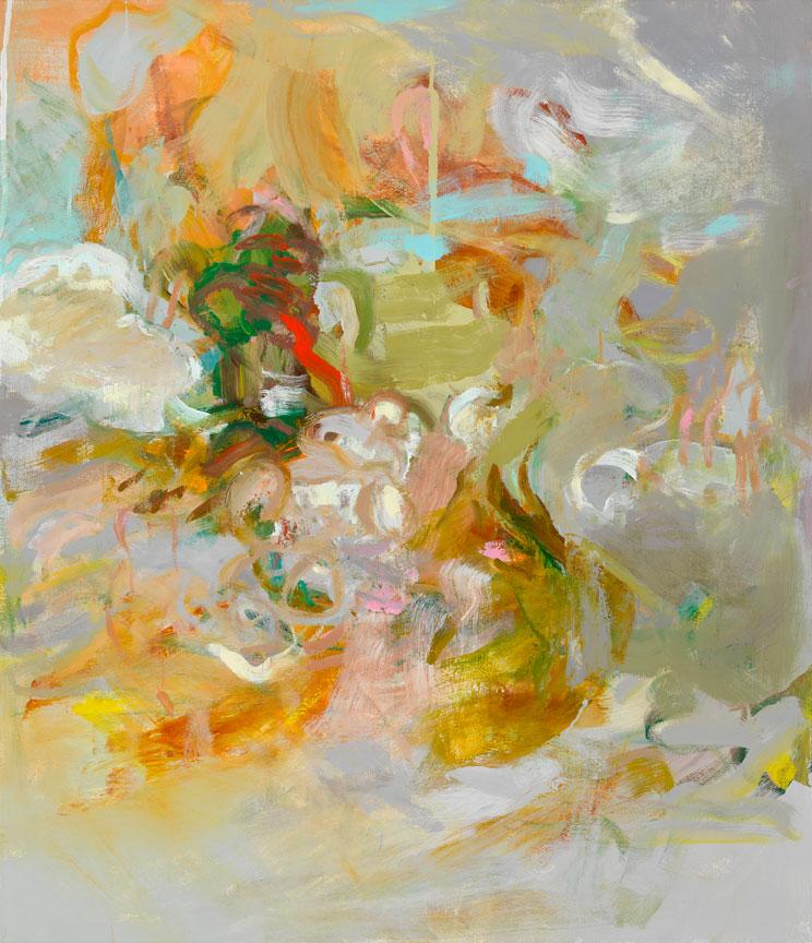 Kathy Soles,  Through,  Oil on canvas, 44x38, $7,200