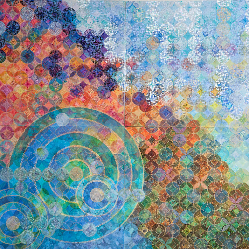 D. Driscoll,  Circles 30 (Elemental,)  acrylic on panel, 72x72