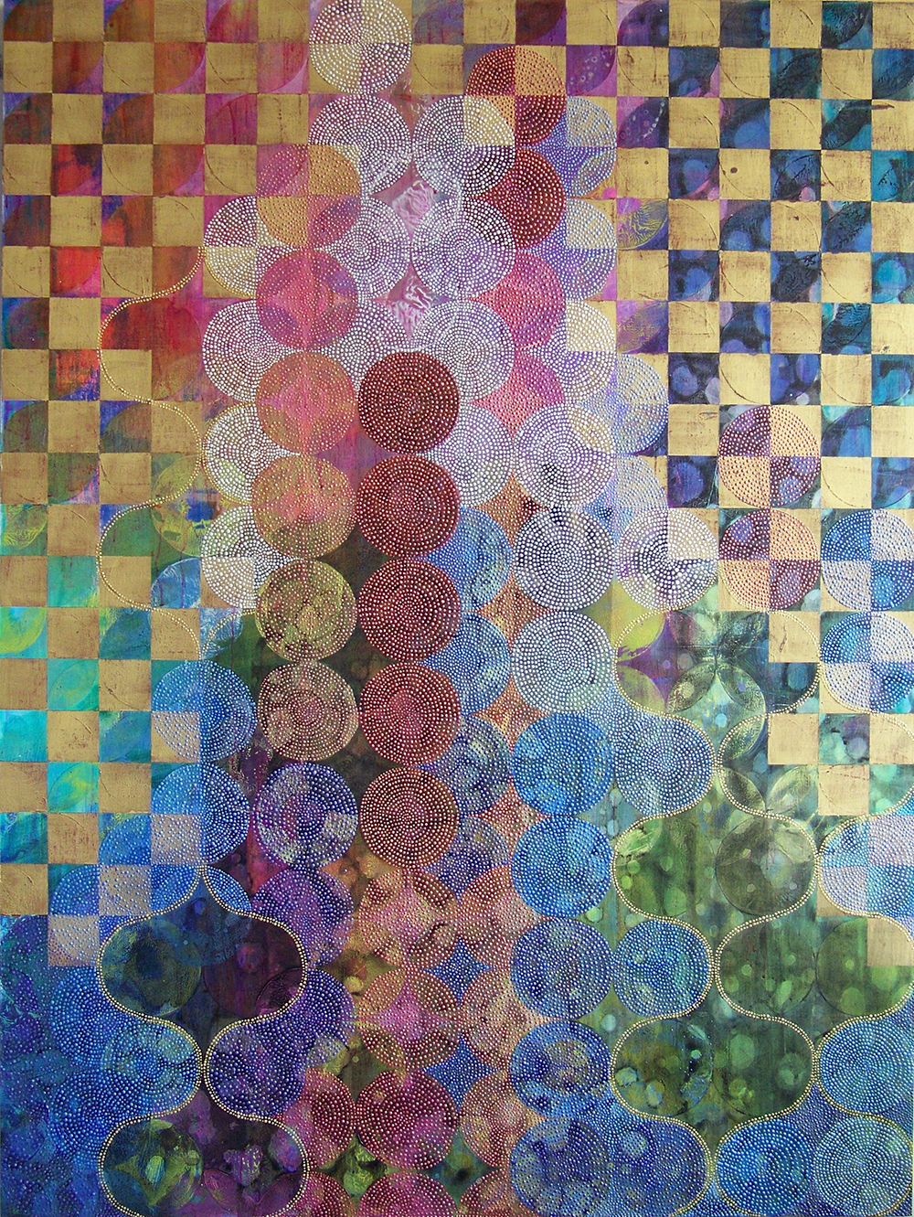 D. Driscoll,  Circles 40 , acrylic on panel, 48x36