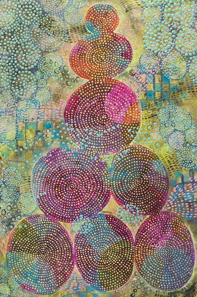 D. Driscoll,  Inner Garden 5 , acrylic on paper 18x12, $750