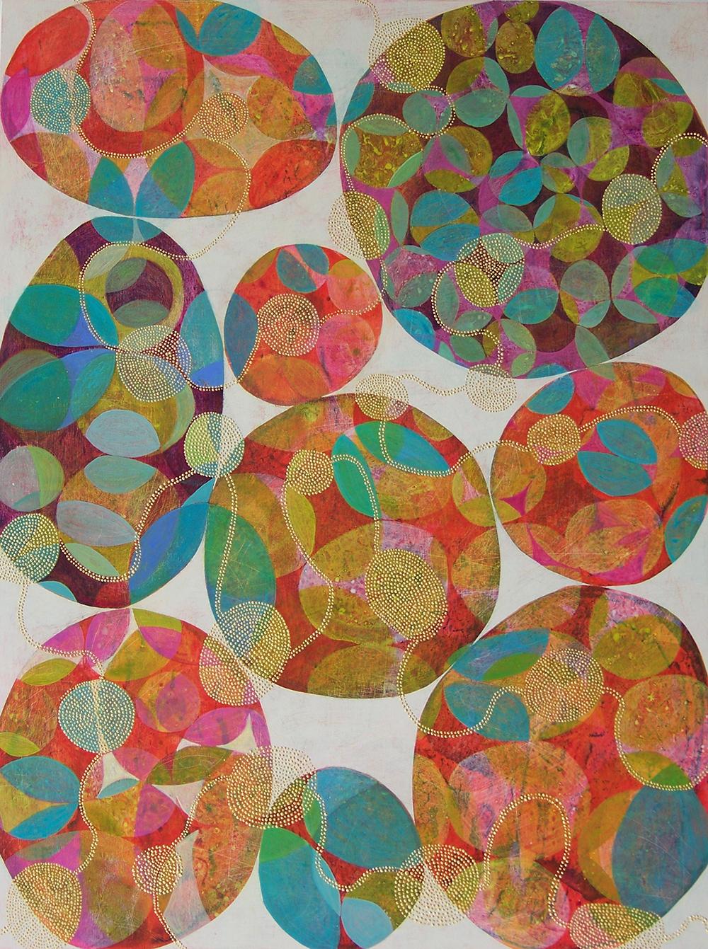D. Driscoll,  Inner Garden, 17 , acrylic on panel, 40x30, $4,200