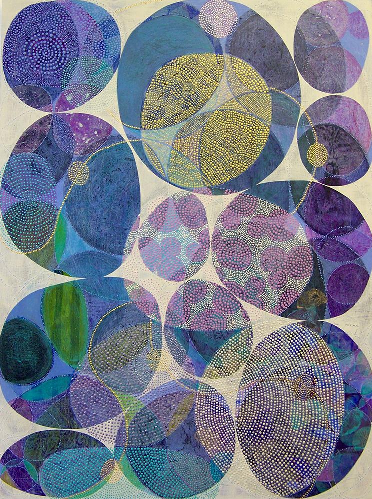 D. Driscoll,  Inner Garden 18 , acrylic on panel, 40x30