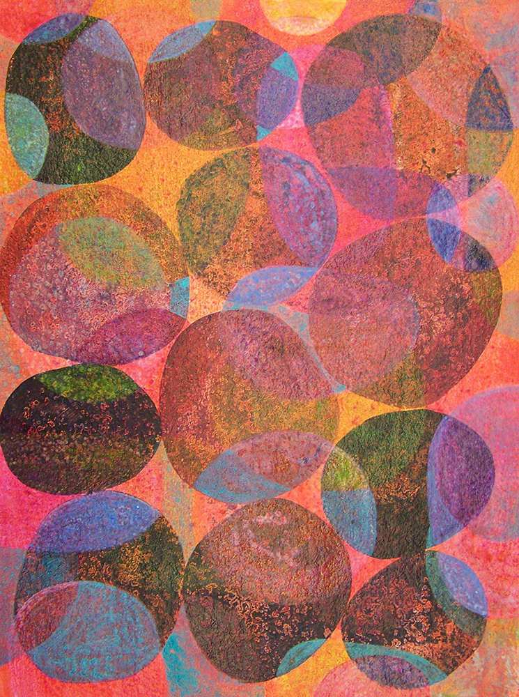 D. Driscoll,  Inner Garden 20 , acrylic on paper, 16x12