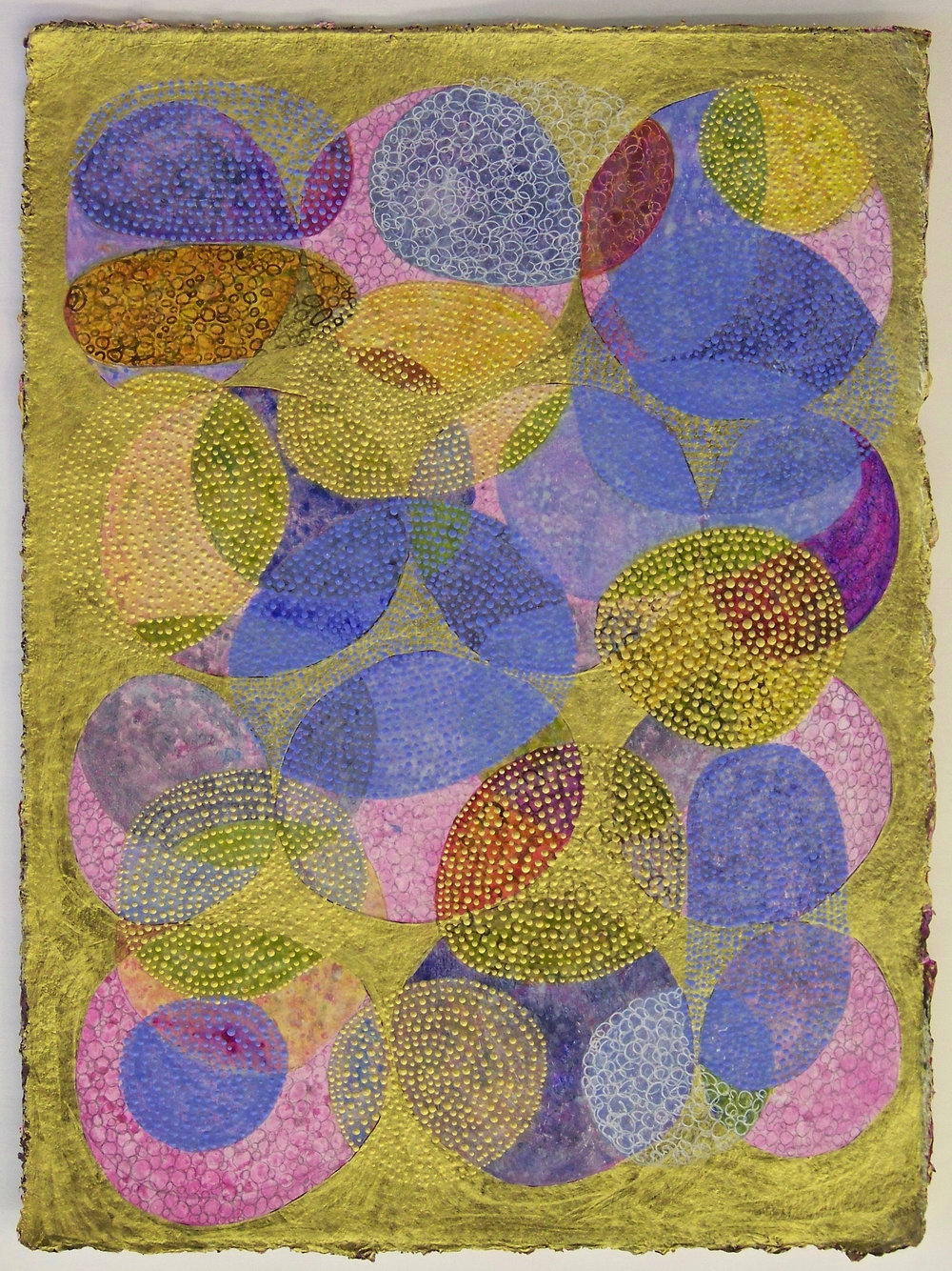 D. Driscoll,  Inner Garden 04 , acrylic on paper, 16x12