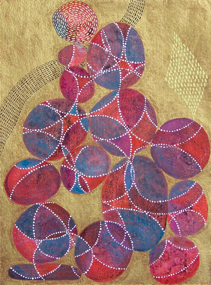 D. Driscoll,  Inner Garden 21 , acrylic on paper, 16x12, $500