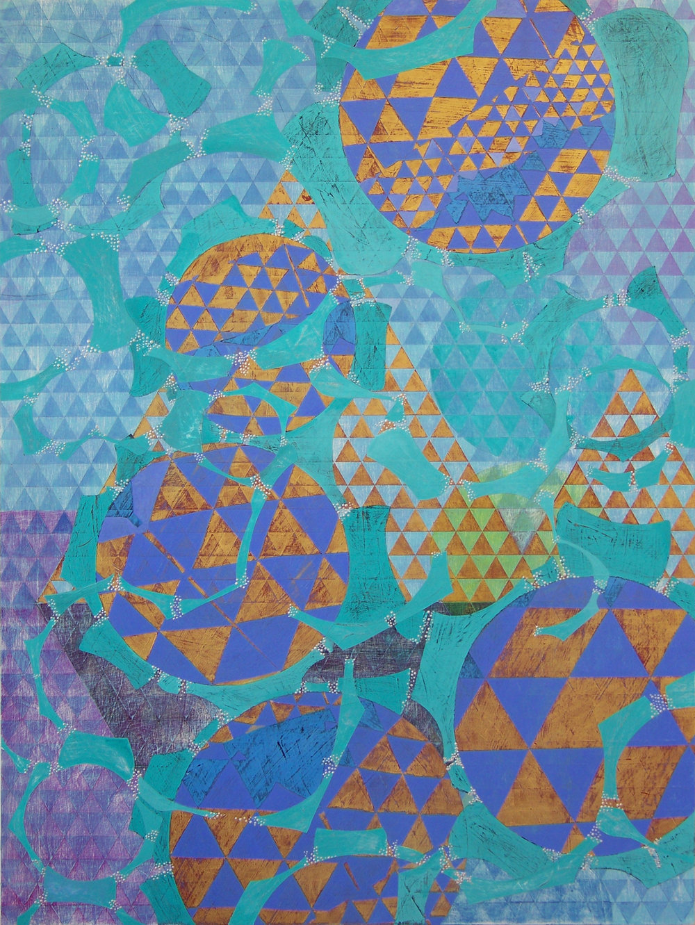 Denise Driscoll,  Configuration , acrylic on panel, 40x30