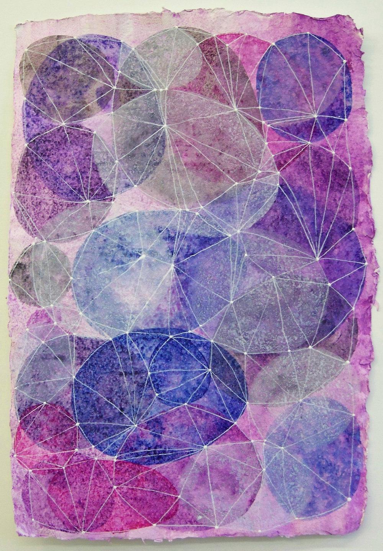 D. Driscoll,  Inner Garden 15 , acrylic on paper 18x12, $500