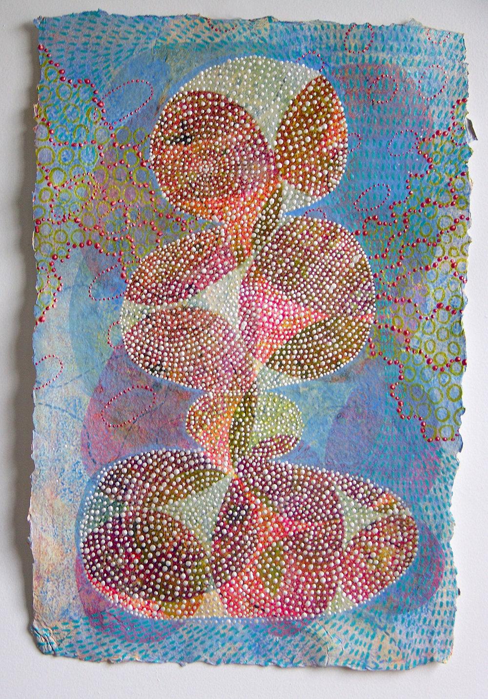 D. Driscoll,  Inner Garden 26 , acrylic on paper 18x12
