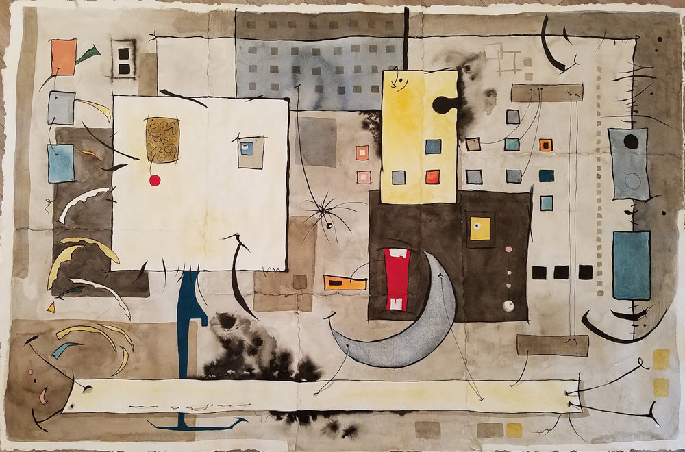 Argument  watercolor 42x65