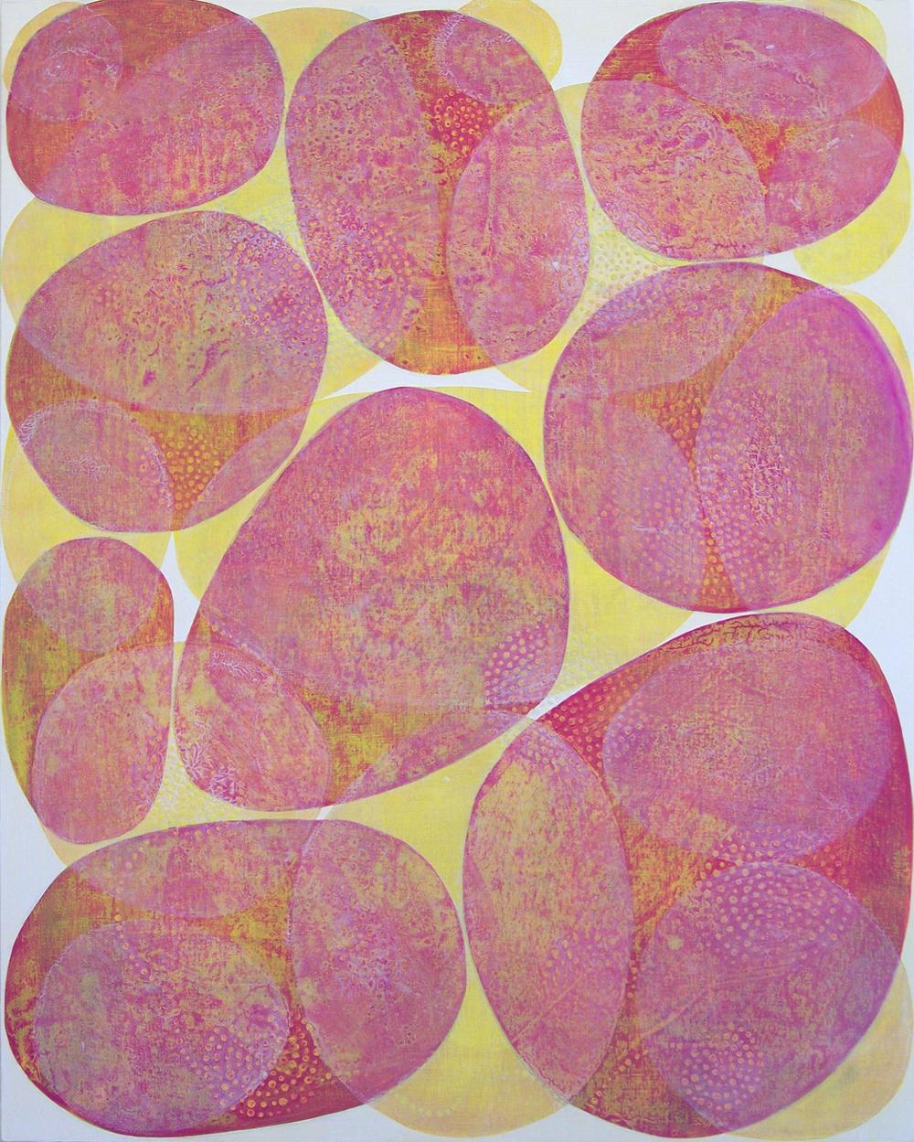 D. Driscoll,  Inner Garden 24 , acrylic on panel, 20x16