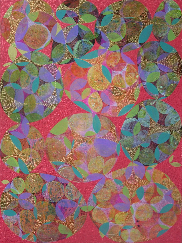 D. Driscoll,  Inner Garden 29 , acrylic on panel, 48x36