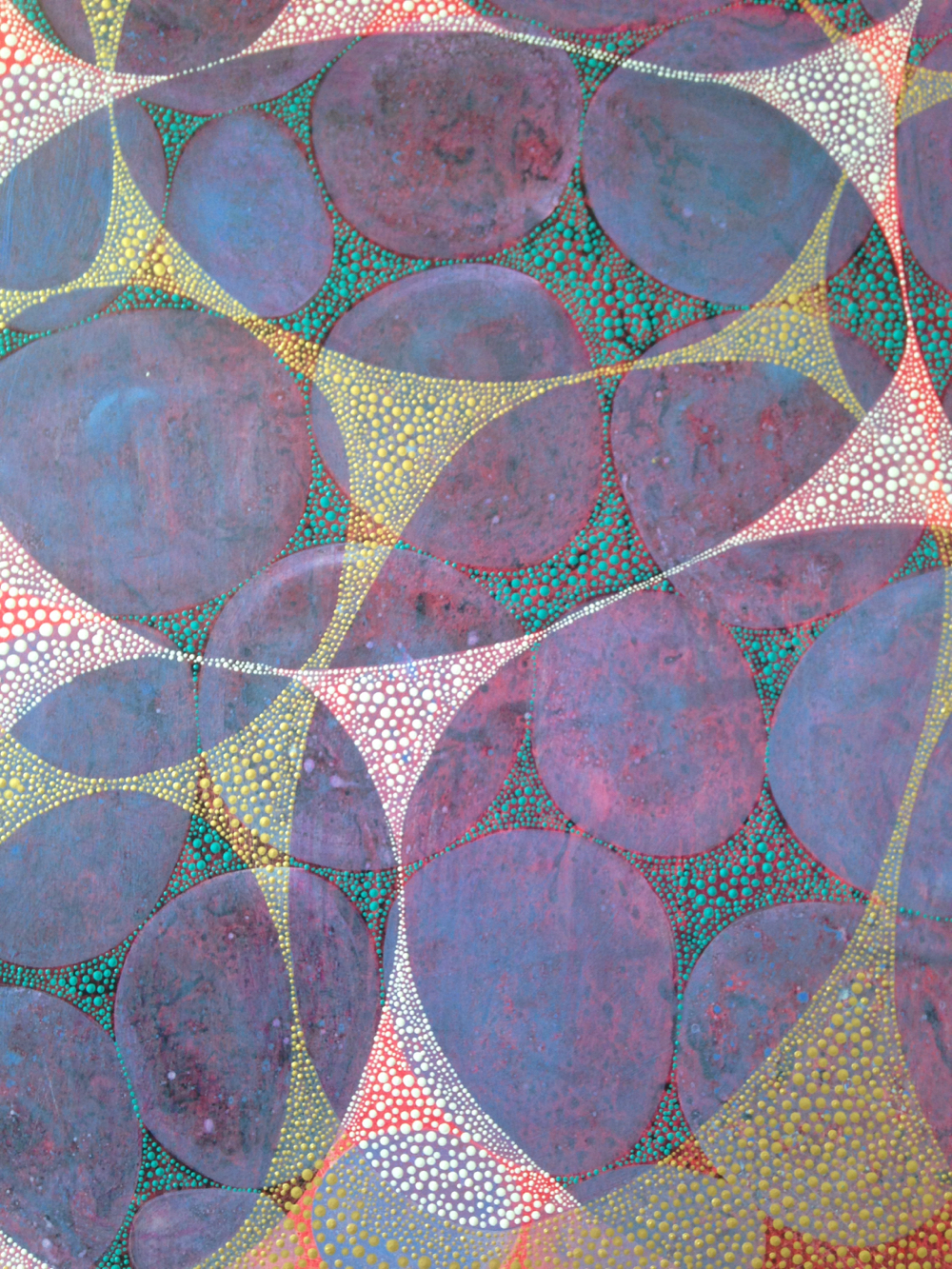 Inner Garden 29 work-in-progress: Final dot layer