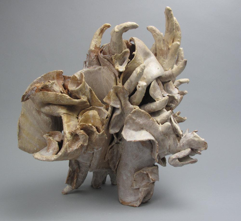 Sara Fine-Wilson,  Fragment,  Clay, 14x14x16