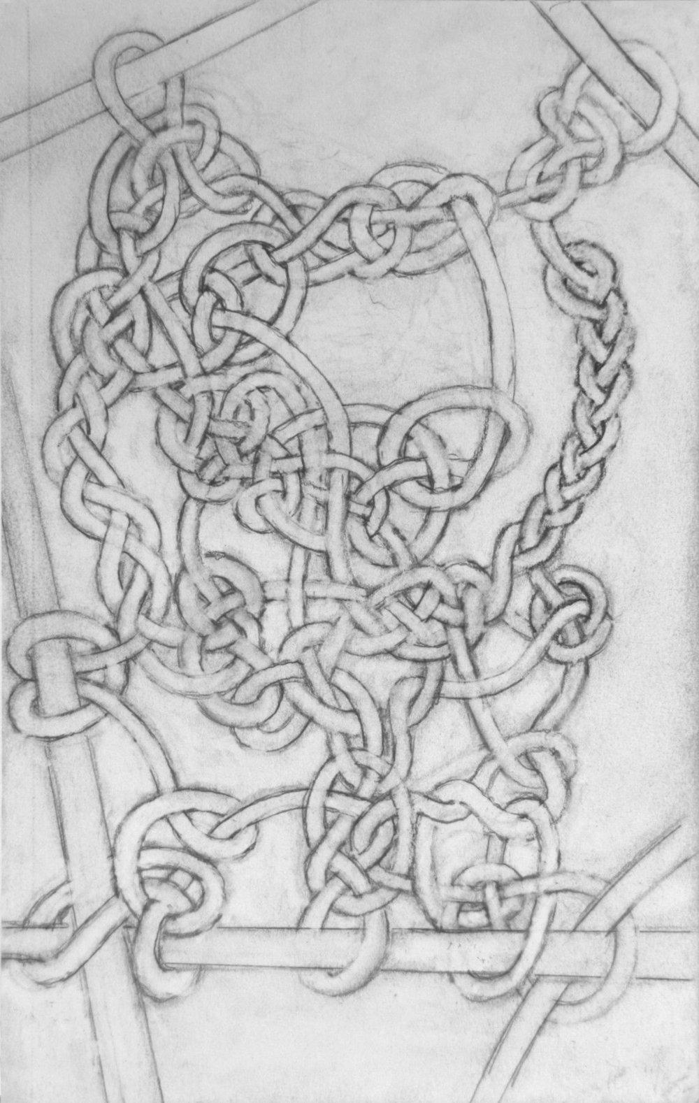 Jim Banks,  Shores of Amaratus , Graphite on paper, 9x6