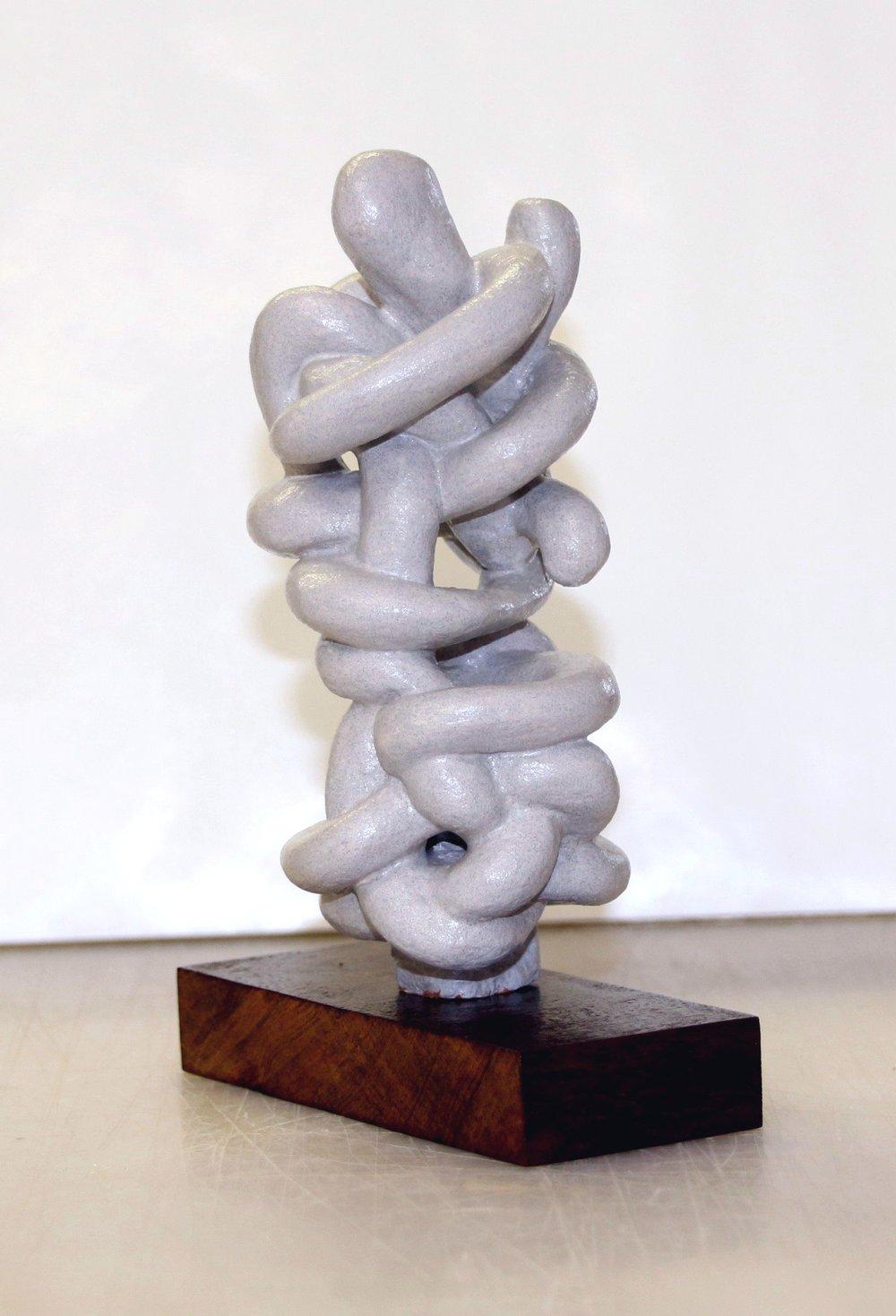 Jim Banks,  Geeta #2 , Acrylic, marble powder, wood, 5x3x7