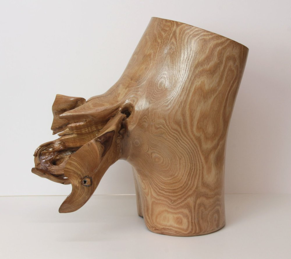 "Catalpa Hippo ‑ Melody , Catalpa wood, 17"" x 10"" x 17"""