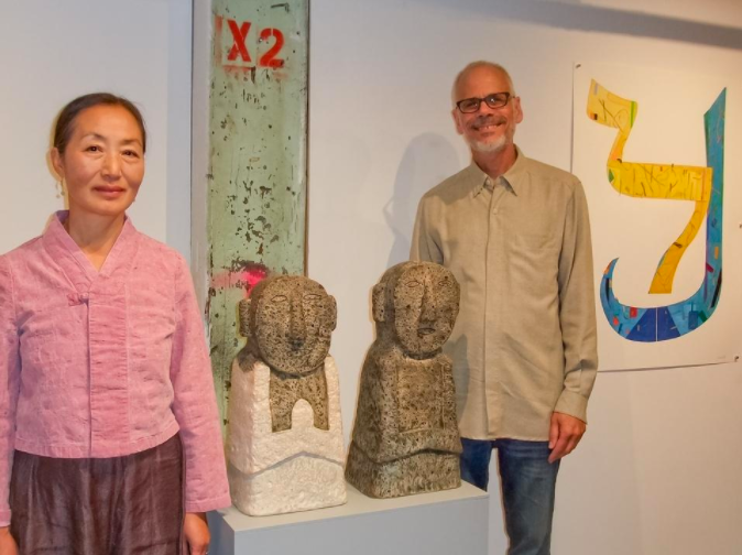 Sudbury artists Jaeok Lee (left) and Joel Moskowitz (right), Traditions in Translation