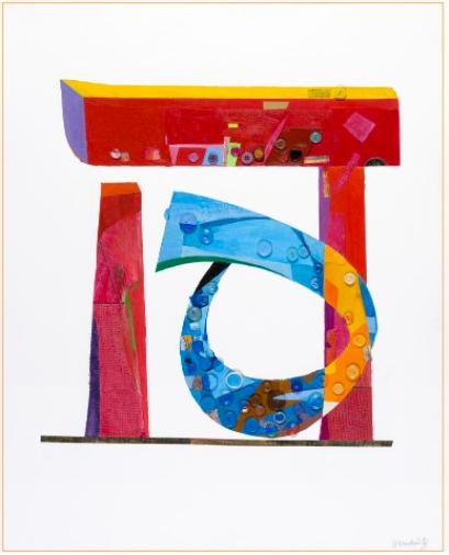 Joel Moskowitz,  Hey/Haa , acrylic and assemblageon paper