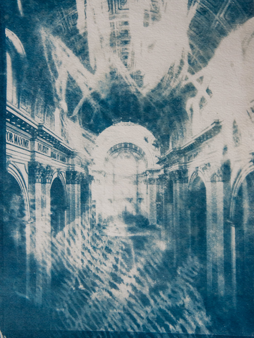 Marie Craig,  Dilexit 1,  cyanotype on paper, 12x9
