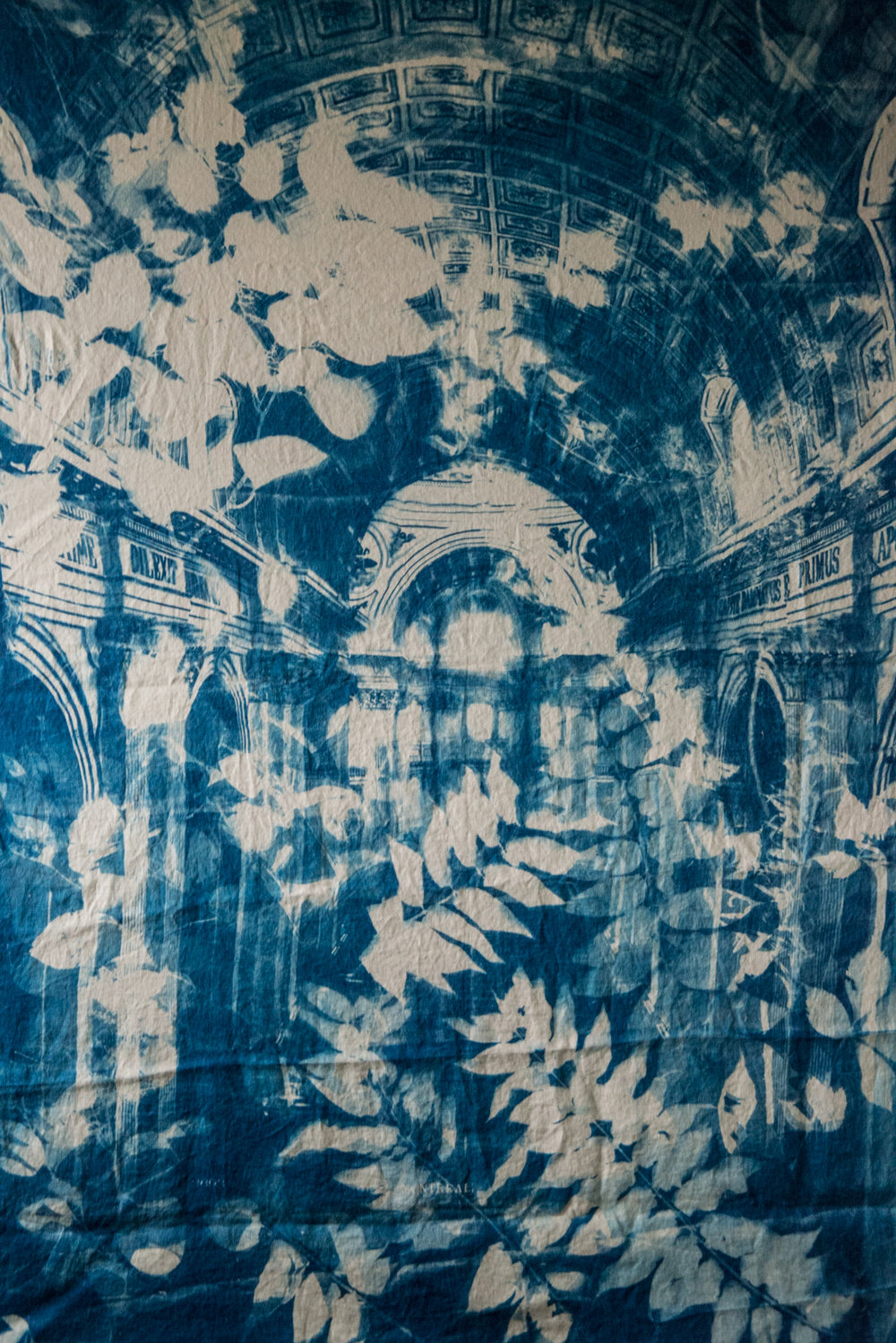 Marie Craig,  Dilexit 3,  cyanotype on linen, 56x77
