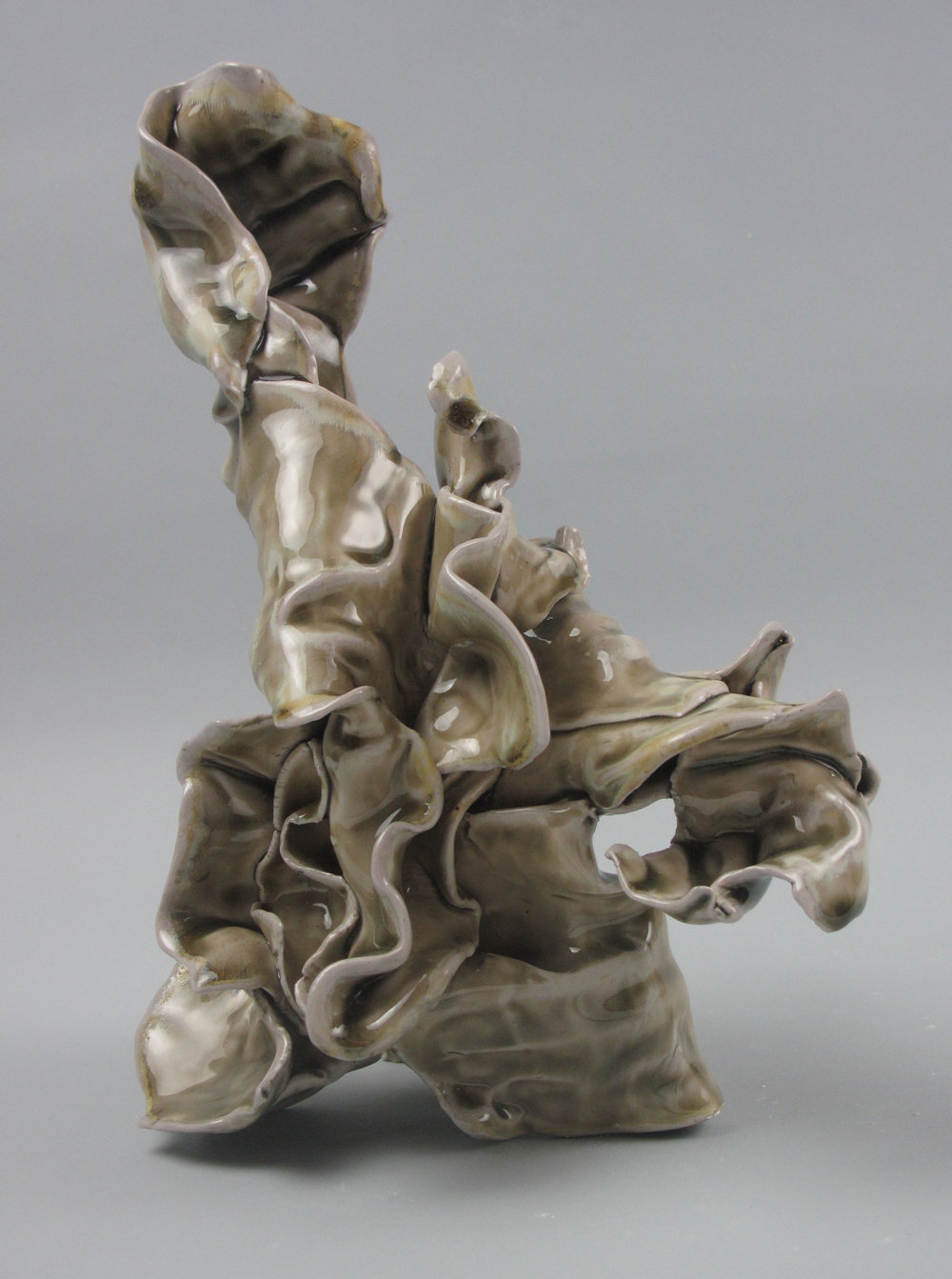 Sara Fine-Wilson,  Carry,  Stoneware, soda-fired, 12x8x6