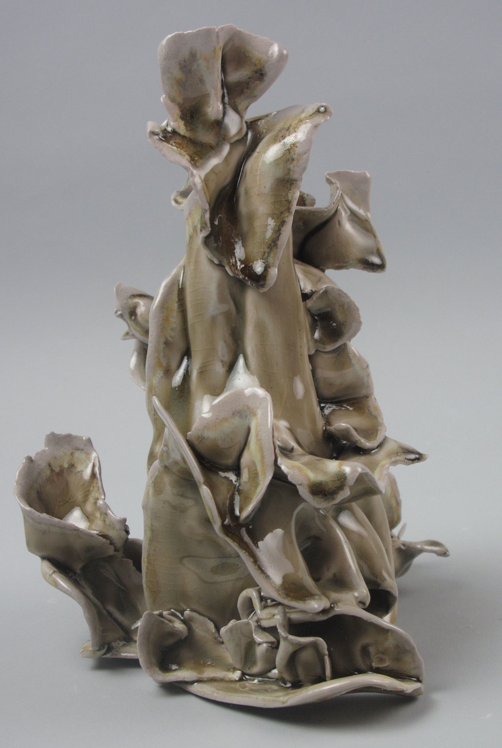 Sara Fine-Wilson,  Flutter,  Stoneware, soda-fired, 9x6x6