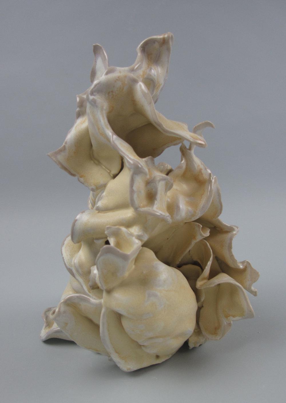 Sara Fine-Wilson,  Grasp , Stoneware, soda-fired, 7x5x4