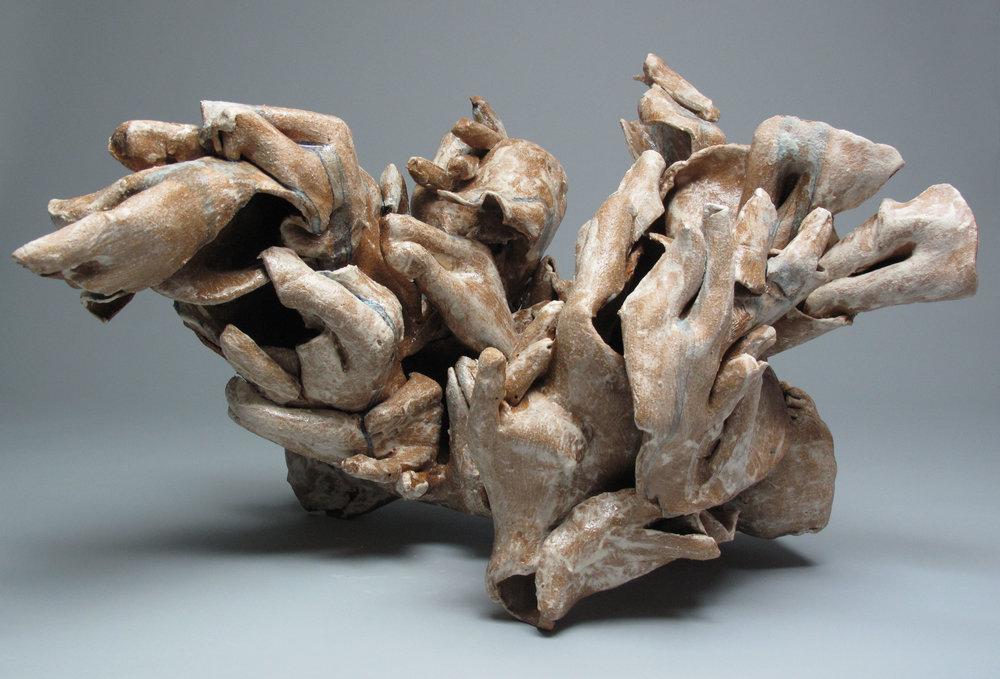 Sara Fine-Wilson,  Hold , Stoneware, 19x8x10
