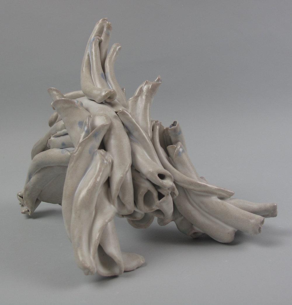 Sara Fine-Wilson,  Lift , Stoneware, soda-fired, 5x8x9