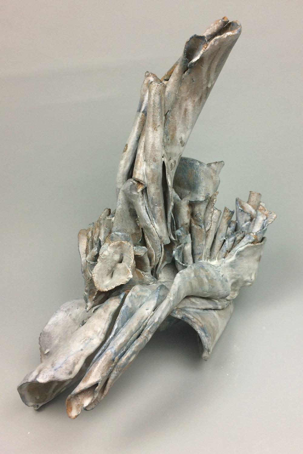 Sara Fine-Wilson,  Open , Stoneware, 17x15x15