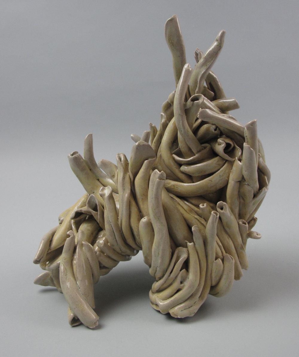 Sara Fine-Wilson,  Poodle , Stoneware, soda-fired, 6x6x5